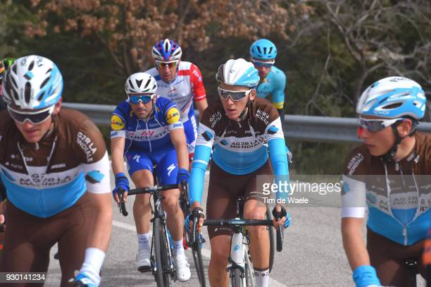 Romain Bardet of France during the 53rd TirrenoAdriatico 2018 Stage 4 a 219km stage from Follonica to Sarnano Sassotetto 1335m on March 10 2018 in...