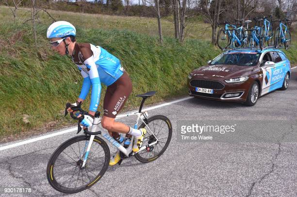Romain Bardet of France / during the 53rd TirrenoAdriatico 2018 Stage 4 a 219km stage from Foligno to Sarnano Sassotetto 1335m on March 10 2018 in...