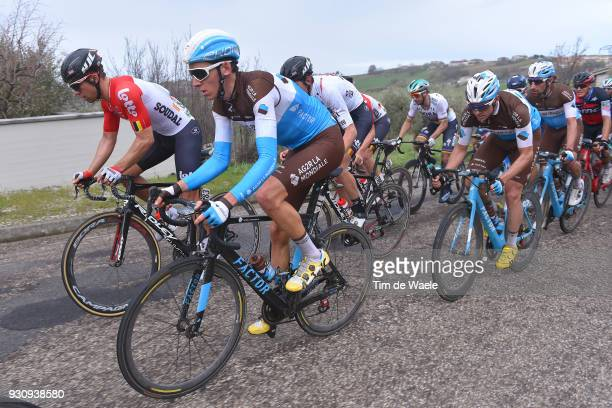 Romain Bardet of France Jens Debusschere of Belgium during the 53rd TirrenoAdriatico 2018 Stage 6 a 153km stage from Numana to Fano on March 12 2018...