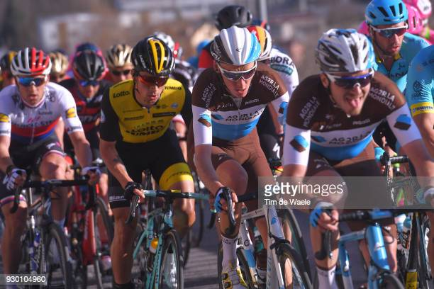 Romain Bardet of France Peloton / during the 53rd TirrenoAdriatico 2018 Stage 4 a 219km stage from Follonica to Sarnano Sassotetto 1335m on March 10...
