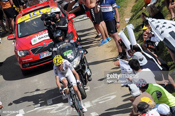 Romain Bardet of Team AG2R La Mondiale during Stage 16 of the Tour de France on July 22 2014 in BagneresdeLuchon France