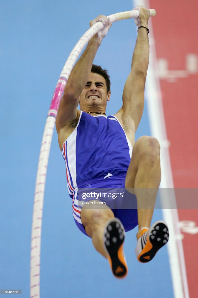 Romain Barras of France competes during the Pole Vault discipline in the Men's Heptathlon on day three of the 29th European Athletics Indoor Championships at the National Indoor Arena on March 4, 2007 in Birmingham, England.