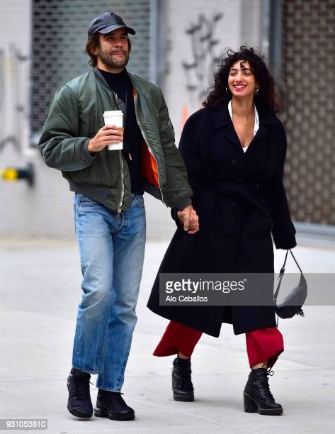 Romain Dauriac is seen with mystery new girlfriend in Soho on March 12 2018 in New York City