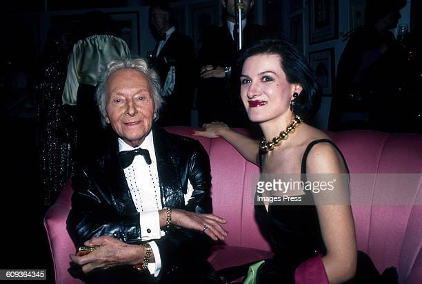 Romain de Tirtoff and Paloma Picasso attends the Erte Gallery Exhibition circa 1982 in New York City