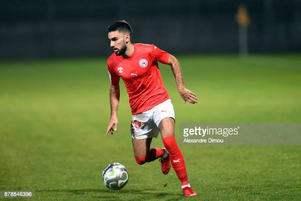 Romain Del Castillo of Nimes during the Ligue 2 match between Nimes and Bourg en Bresse at Stade des Costieres on November 24 2017 in Nimes France