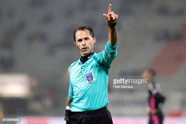 Romain Delpech referee during the Ligue 2 match between AS Nancy and AC Ajaccio on November 17 2017 in Nancy France