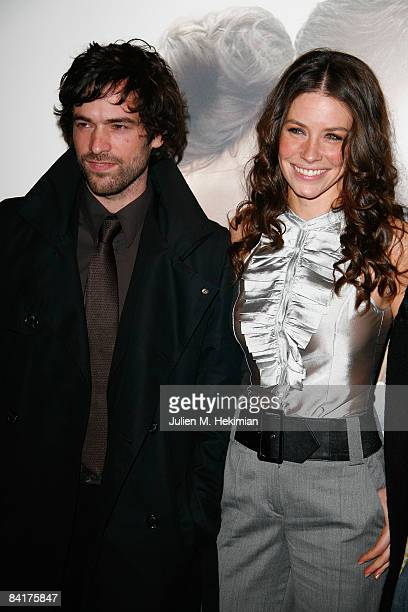 Romain Duris and Evangeline Lilly attend the 'Et Apres' Paris premiere at the Gaumont ambassade cinema on january 5 2009 in Paris France