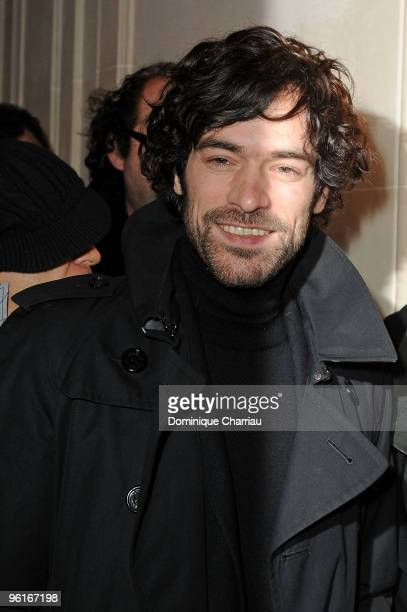 Romain Duris attends Etam Spring/Summer 2010 Collection Launch by Natalia Vodianova at Hotel Ritz on January 25 2010 in Paris France