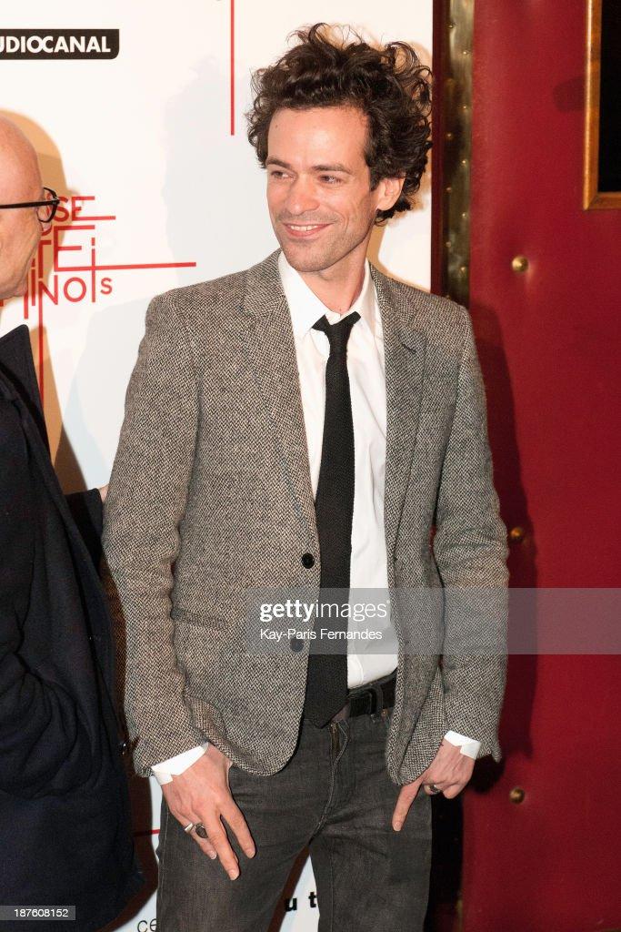 Romain Duris attends the 'Casse Tete Chinois' Paris Premiere at Le Grand Rex on November 10, 2013 in Paris, France.
