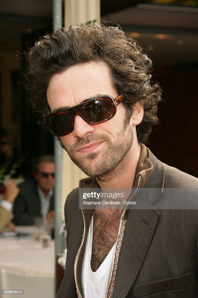 Romain Duris visits Roland Garros Village during the 2005 French Open tennis.
