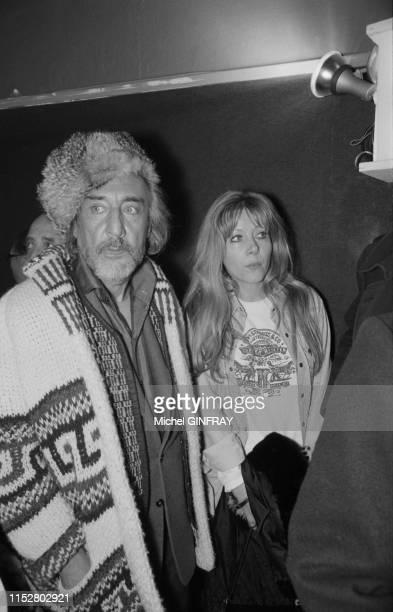 Romain Gary et Ingrid Pitt lors du Festival d'Avoriaz le 28 janvier 1974 France
