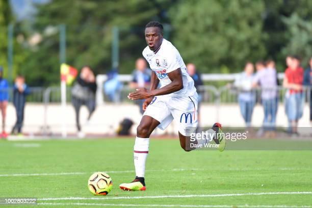Romain Genevois of Caen during the preseason friendly match for the Trophee des Normands between Caen and Le Havre on July 20 2018 in Vire France