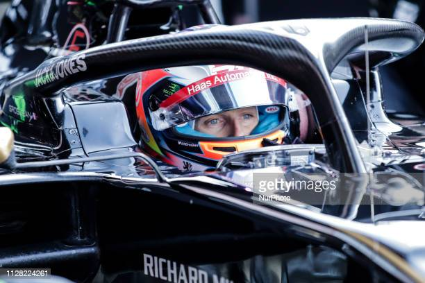Romain Grosjean from France with 08 Rich Energy Haas F1 Team portrait during the Formula 1 2019 PreSeason Tests at Circuit de Barcelona Catalunya in...