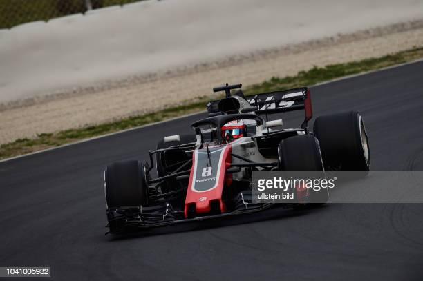 Romain Grosjean, Haas, F1 Team, formula 1 GP, Test, Barcelona Spanien,