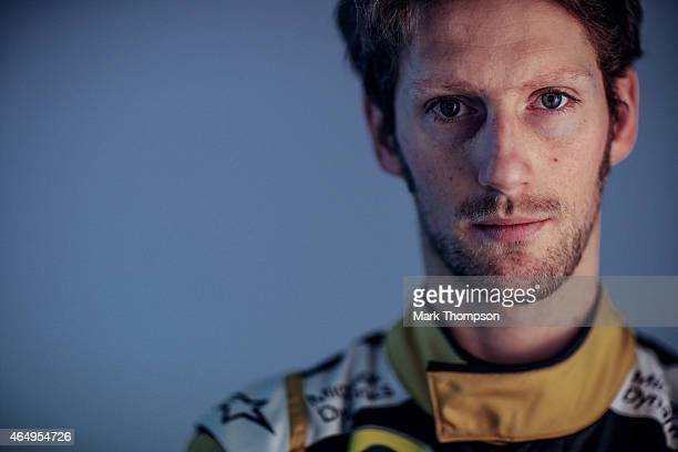 Romain Grosjean of France and Lotus poses for a portrait during day three of Formula One Winter Testing at Circuit de Catalunya on February 21, 2015...