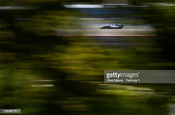 Romain Grosjean of France driving the Haas F1 Team VF-20 Ferrari during the F1 70th Anniversary Grand Prix at Silverstone on August 09, 2020 in...