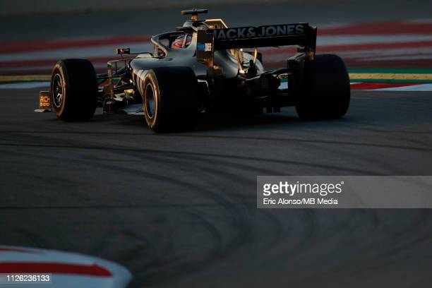 Romain Grosjean of Haas F1 Team during day three of F1 Winter Testing at Circuit de Catalunya on February 20 2019 in Montmelo Spain