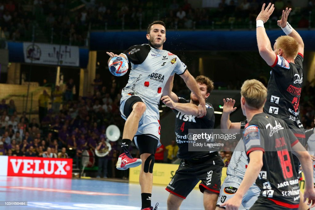 Romain Lagarde of HBC Nantes during the Champions League match