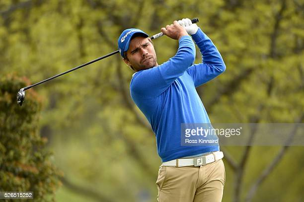 Romain Langasque of France during the second round of Challenge de Madrid at the Real Club de Golf La Herreria on April 29 2016 in Madrid Spain