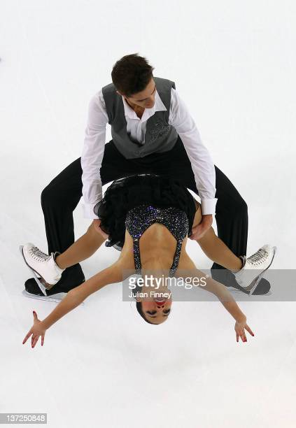 Romain Le Gac and Elizabeth Estelle of France perform in the Ice Dance Free Dance Figure Skating during the Winter Youth Olympic Games on January 17...
