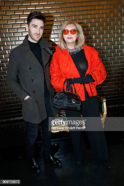Romain Lechevalier and Amanda Lear attend the Jean-Paul Gaultier Haute Couture Spring Summer 2018 show as part of Paris Fashion Week on January 24,...