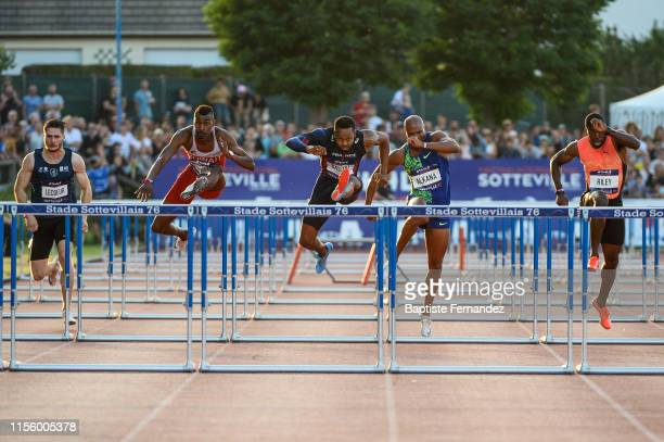 Romain Lecoeur of France Yaqoub Mohamed Al Youha of Kuwait Dimitri Bascou of France Antonio Alkana of South Africa and Andrew Riley of Jamaica during...
