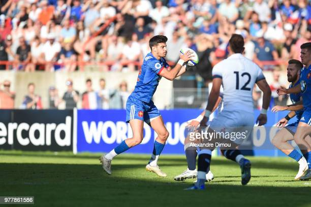 Romain Ntamack of France during the Final World Championship U20 match between England and France on June 17 2018 in Beziers France