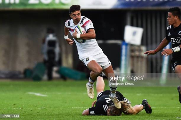 Romain Ntamack of France during the Semi Final Final U20 World Championship between France and New Zealand on June 12 2018 in Perpignan France