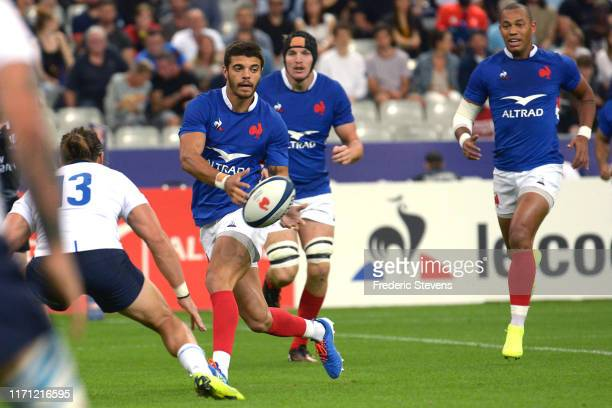 Romain Ntamack of France runs with the ball during the International Friendly Match between France and Italia at Stade de France on August 30 2019 in...