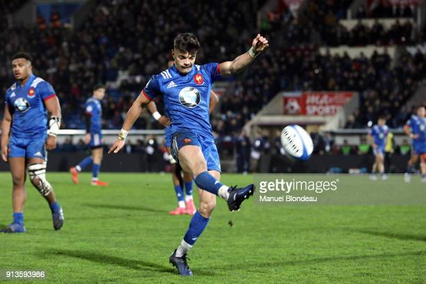 Romain Ntamack of France U20 during the RBS Six Nations match between France U20 and Ireland U20 on February 2 2018 in Bordeaux France