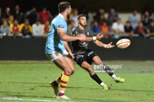Romain Ntamack of Toulouse during the Test match between USAP Perpignan and Stade Toulousain on August 9 2018 in Perpignan France