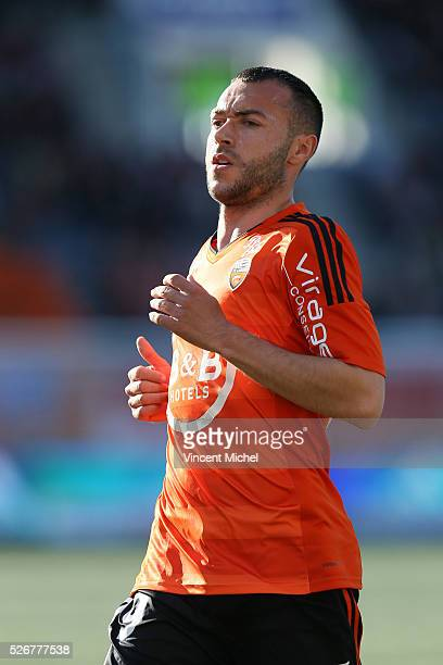 Romain Philipotteaux of Lorient during the French Ligue 1 match between Fc Lorient and Lille OSC at Stade du Moustoir on April 30, 2016 in Lorient,...