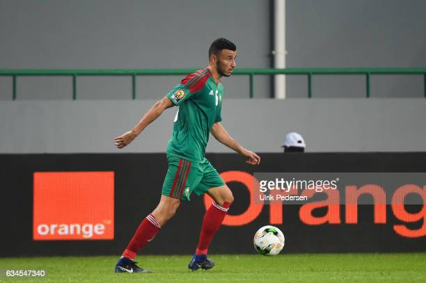 Romain Saiss of Morocco during the Quarter Final African Nations Cup match between Morocco and Egypt on January 29 2017 in Port Gentil Gabon