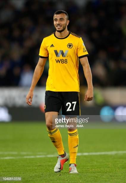 Romain Saiss of Wolverhampton Wanderers during the Carabao Cup Third Round match between Wolverhampton Wanderers and Leicester City at Molineux on...