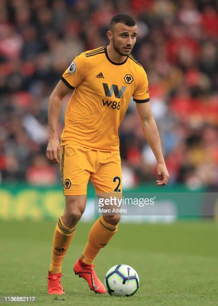 Romain Saiss of Wolverhampton Wanderers during the Premier League match between Southampton FC and Wolverhampton Wanderers at St Mary's Stadium on...