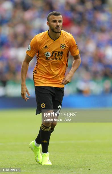 Romain Saiss of Wolverhampton Wanderers during the Premier League match between Leicester City and Wolverhampton Wanderers at The King Power Stadium...
