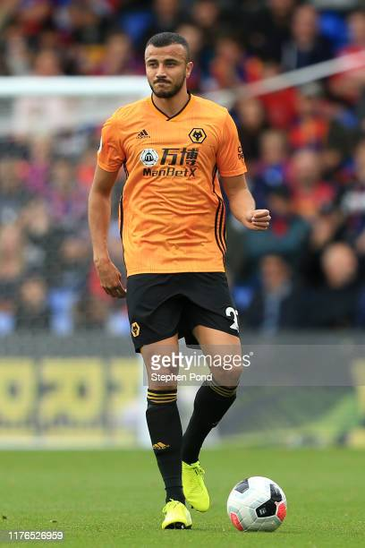 Romain Saiss of Wolverhampton Wanderers during the Premier League match between Crystal Palace and Wolverhampton Wanderers at Selhurst Park on...