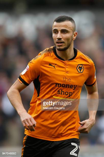 Romain Saiss of Wolverhampton Wanderers during the Sky Bet Championship match between Wolverhampton Wanderers and Birmingham City at Molineux on...
