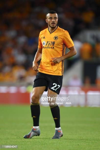Romain Saiss of Wolverhampton Wanderers during the UEFA Europa League Second Qualifying round 1st Leg fixture between Wolverhampton Wanderers and...