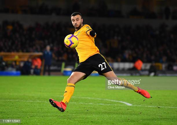 Romain Saiss of Wolverhampton Wanderers in action during the Premier League match between Wolverhampton Wanderers and West Ham United at Molineux on...