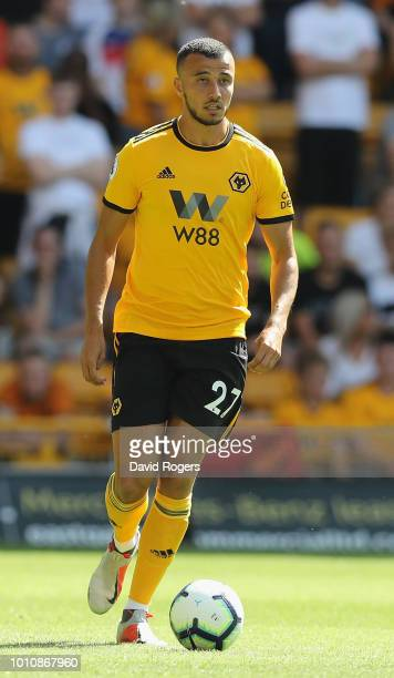 Romain Saiss of Wolverhampton Wanderers runs with the ball during the preseason friendly match between Wolverhampton Wanderers and Villareal at...