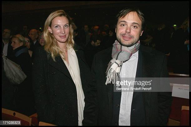 Romain Sardou and wife Francesca at Les elections du Piano By Radio Classique Held At La Salle Pleyel In Paris