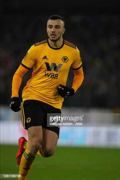 Romain Saïss of Wolverhampton Wanderers during the FA Cup Fourth Round Replay match between Wolverhampton Wanderers and Shrewsbury Town at Molineux...