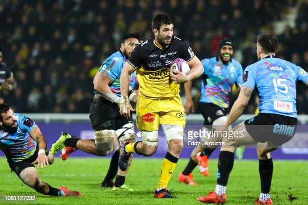 Romain Sazy of La Rochelle during the European Challenge Cup match between La Rochelle and Zebre at Stade Marcel Deflandre on January 11 2019 in La...