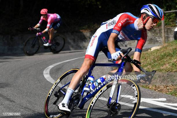 Romain Sicard of France and Team Total Direct Energie / Breakaway / during the 107th Tour de France 2020, Stage 16 a 164km stage from La Tour-Du-Pin...