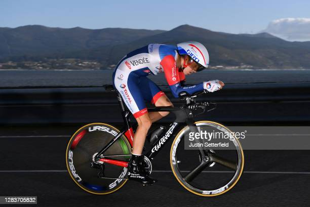 Romain Sicard of France and Team Total Direct Energie / during the 75th Tour of Spain 2020, Stage 13 a 33,7km Individual Time Trial stage from Muros...