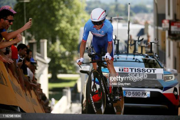 Romain Sicard of France and Team Total Direct Energie / during the 106th Tour de France 2019 - Stage 13 a 27,2km Individual Time Trial Stage from Pau...