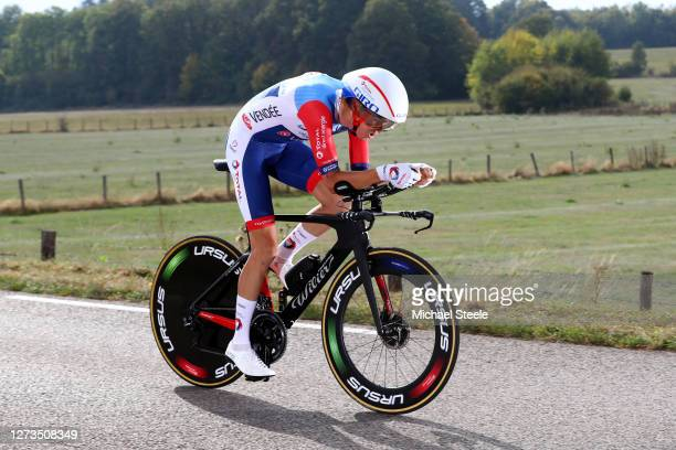 Romain Sicard of France and Team Total Direct Energie / during the 107th Tour de France 2020, Stage 20 a 36,2km Individual Time Trial stage from Lure...