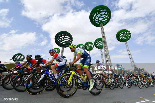 Romain Sicard of France and Team Total Direct Energie / Ludwig De Winter of Belgium and Team Circus-Wanty Gobert / Peloton / Landscape / during the...