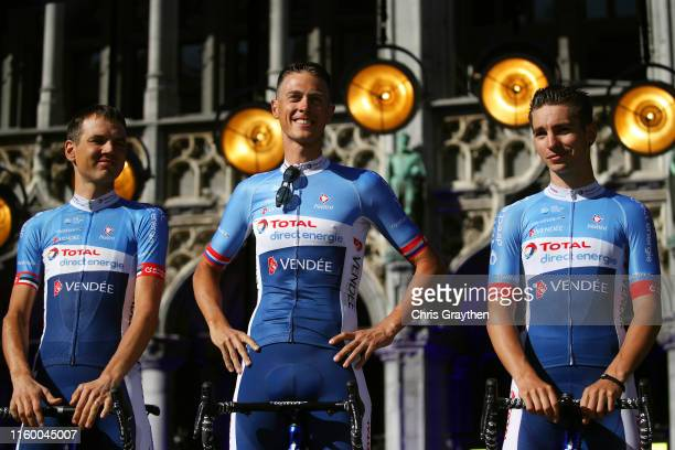 Romain Sicard of France and Team Total Direct Energie / Niki Terpstra of The Netherlands and Team Total Direct Energie / Paul Ourselin of France and...